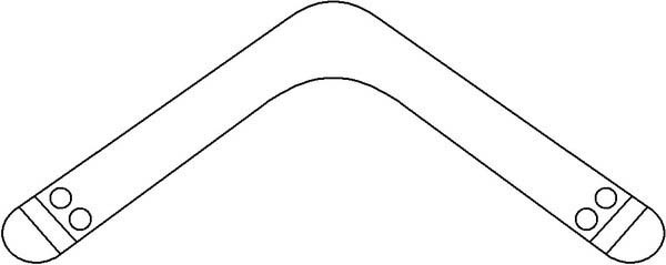 Free boomerang template coloring pages for Australian boomerang template