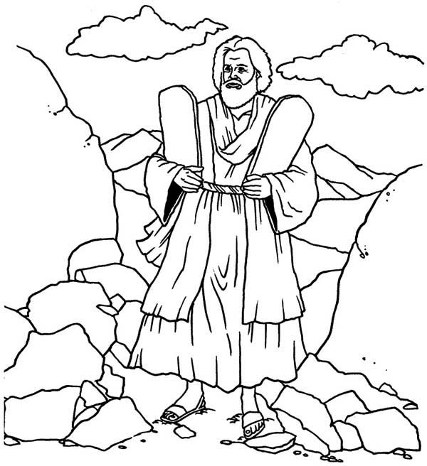 Ten commandments tablet coloring pages coloring pages for Free printable ten commandments coloring pages
