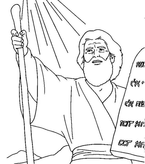 Ten commandments coloring sheets for 1st commandment coloring page