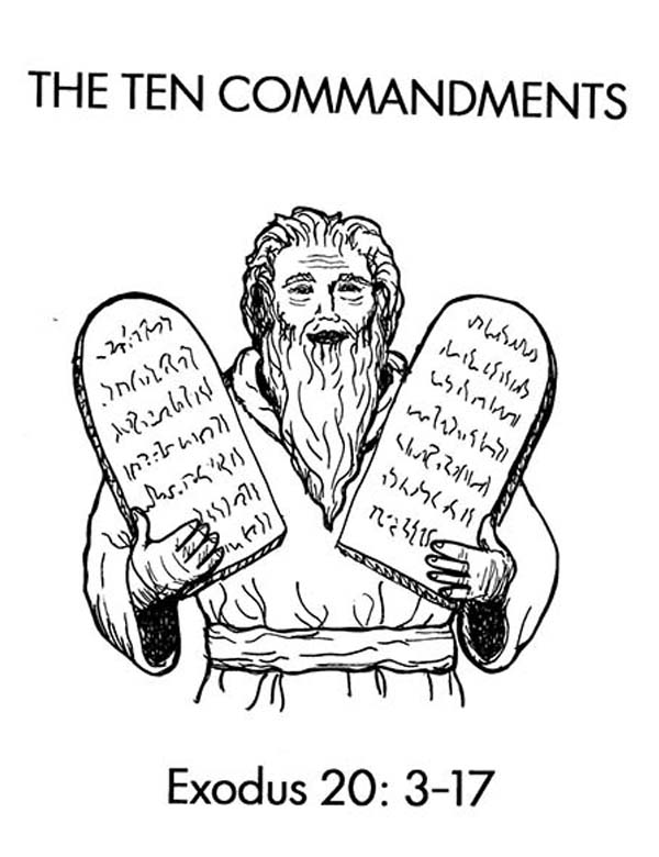 Free Moses Ten Commandments Coloring Pages