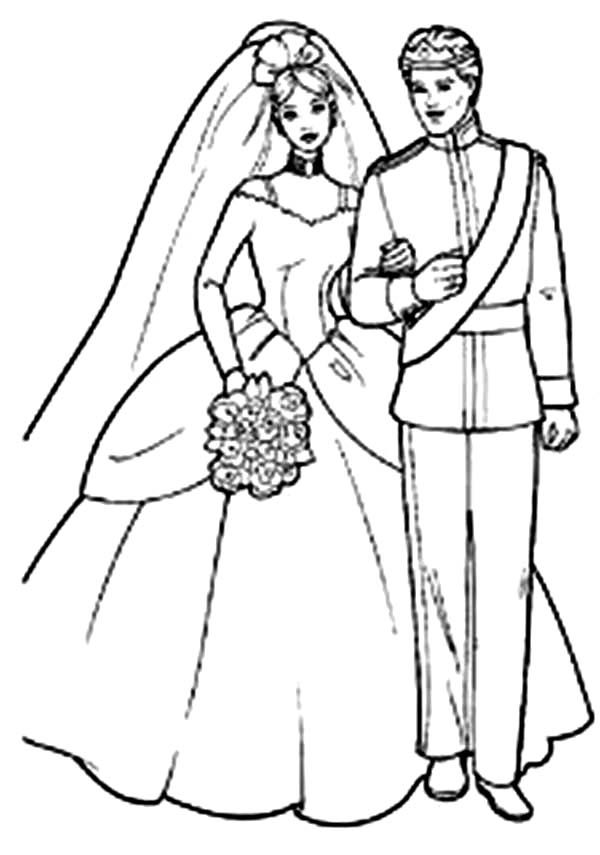 Disney Princess Barbie Coloring Page Coloring Coloring Pages