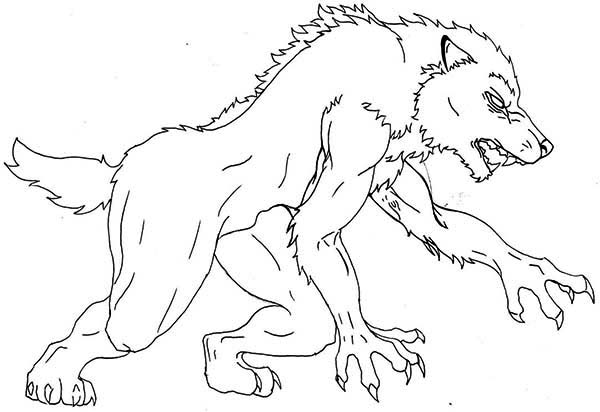 Werewolf Face Coloring Pages