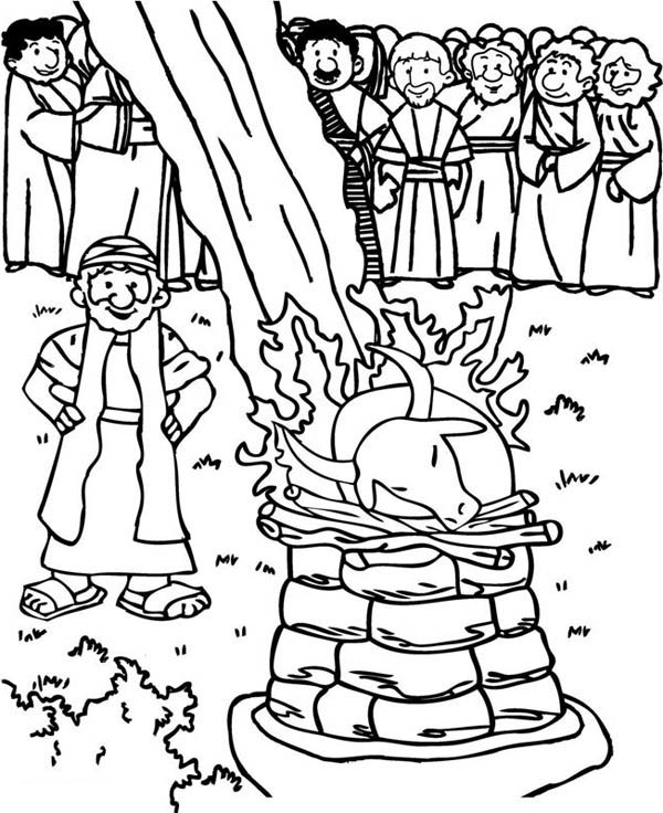 Elijah Sunday School lesson craft and coloring pages